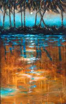 Night View From Kayak 30x48