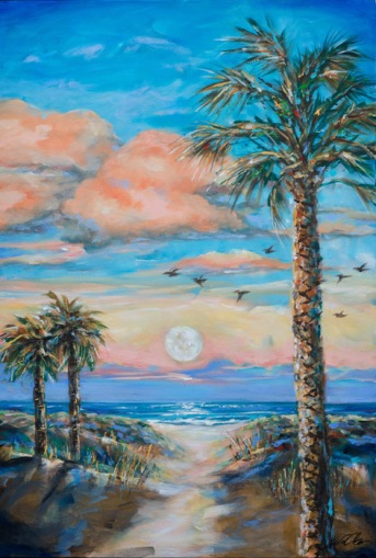 Pink Moon Rise 24x36