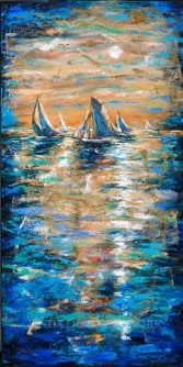 Regatta at Sunset II 24x48