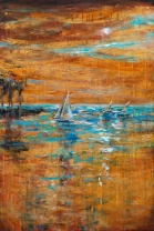 Sailing Late in the Day 24x36