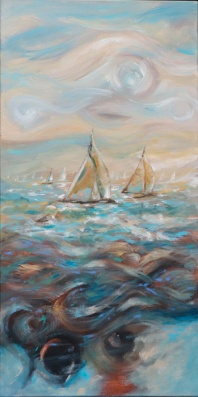 Wooden Boats 24x48