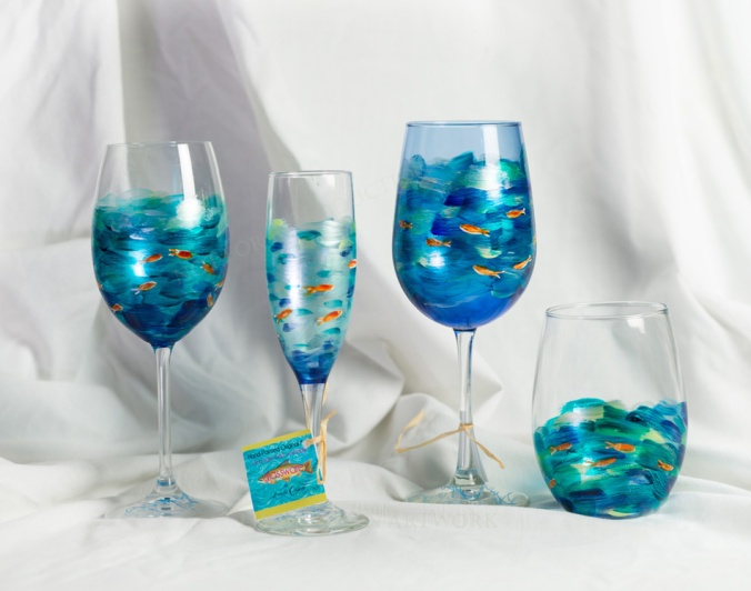Fish Design glassware