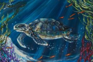 Coral Reef Turtle detail