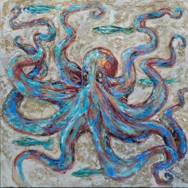 Octopus Blues 36x36