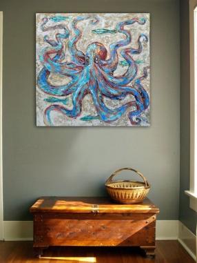 Octopus on wall
