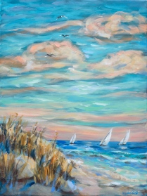 Sailing Close to Shore 18x24