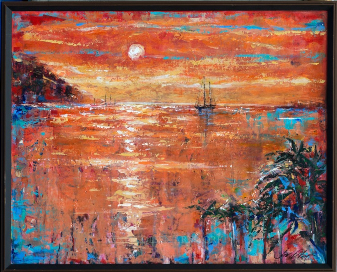 Salt Plage Sunset 31x26