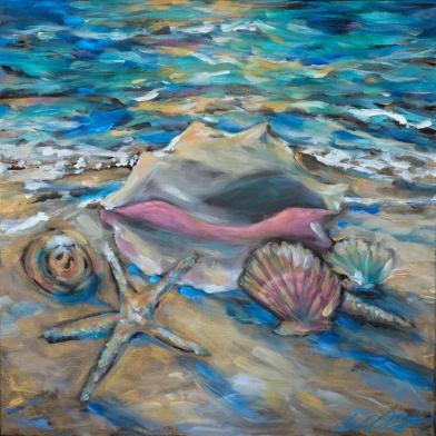 Shells at Tide 20x20