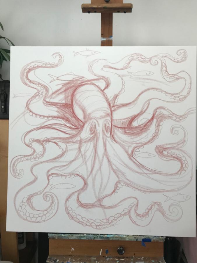 p drawing
