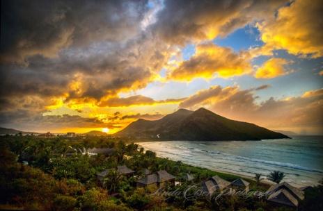 Sand bank bay sunset