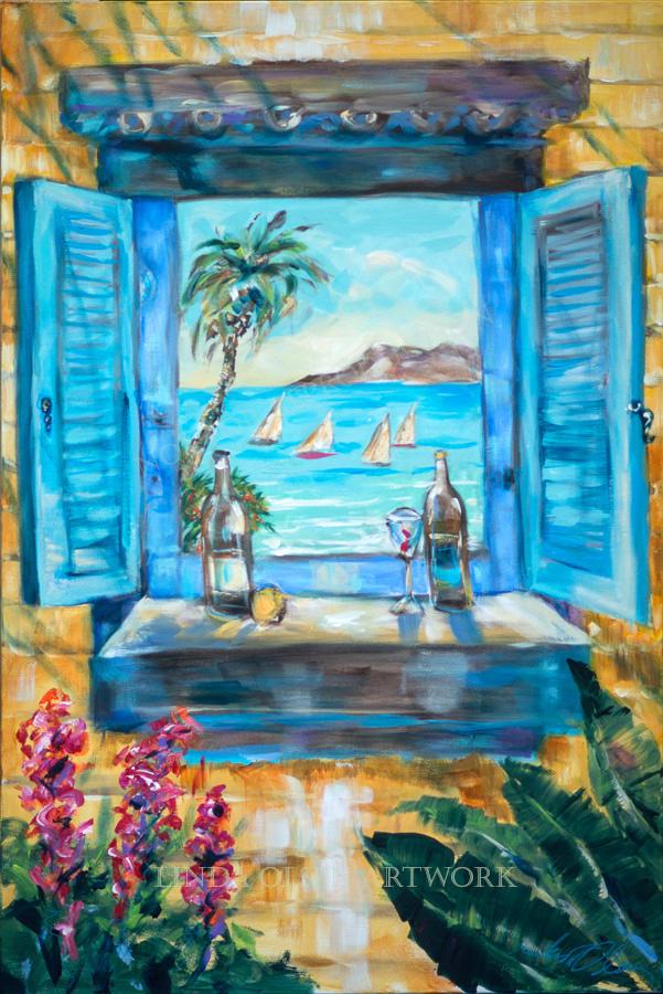 Island Bar Blue 24x36