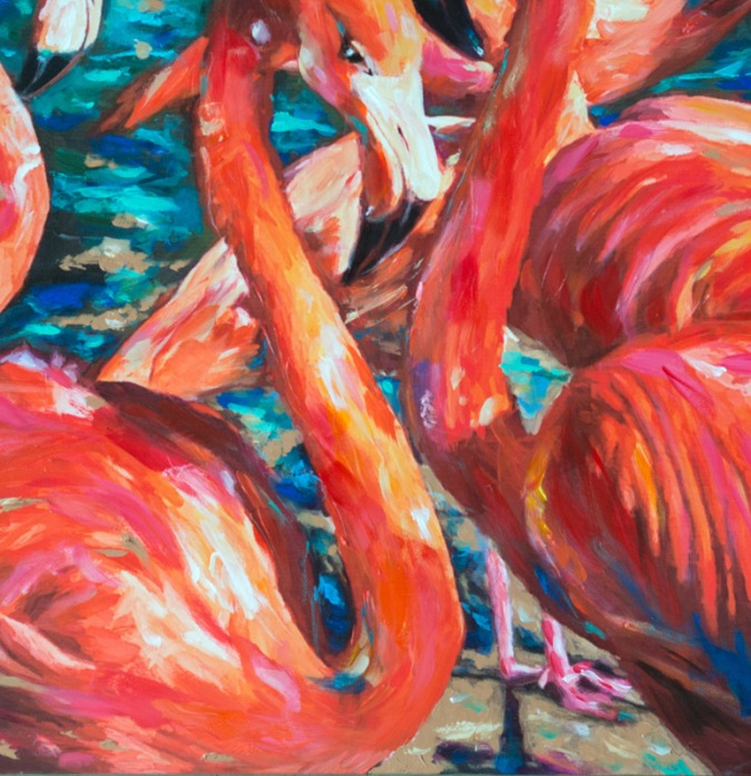Flamingo Gossip detail