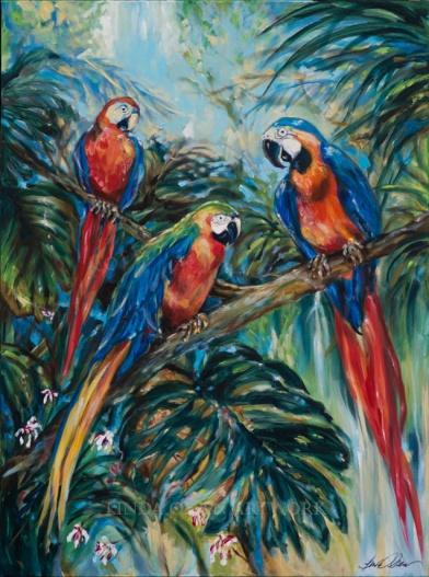 Parrot Choir 40x30