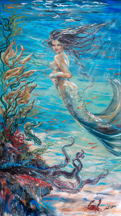 Mermaid Neighbors 66x36