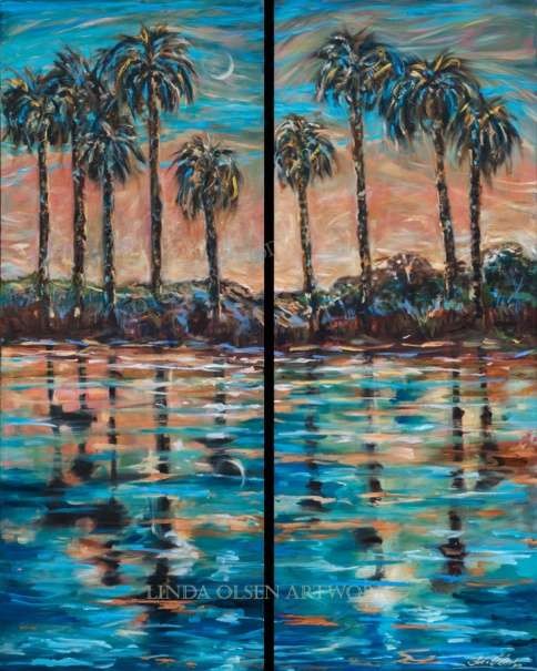 florida eclipse 56x44 diptych