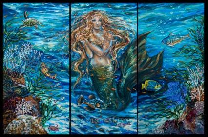 reef rhapsody triptych 72x48