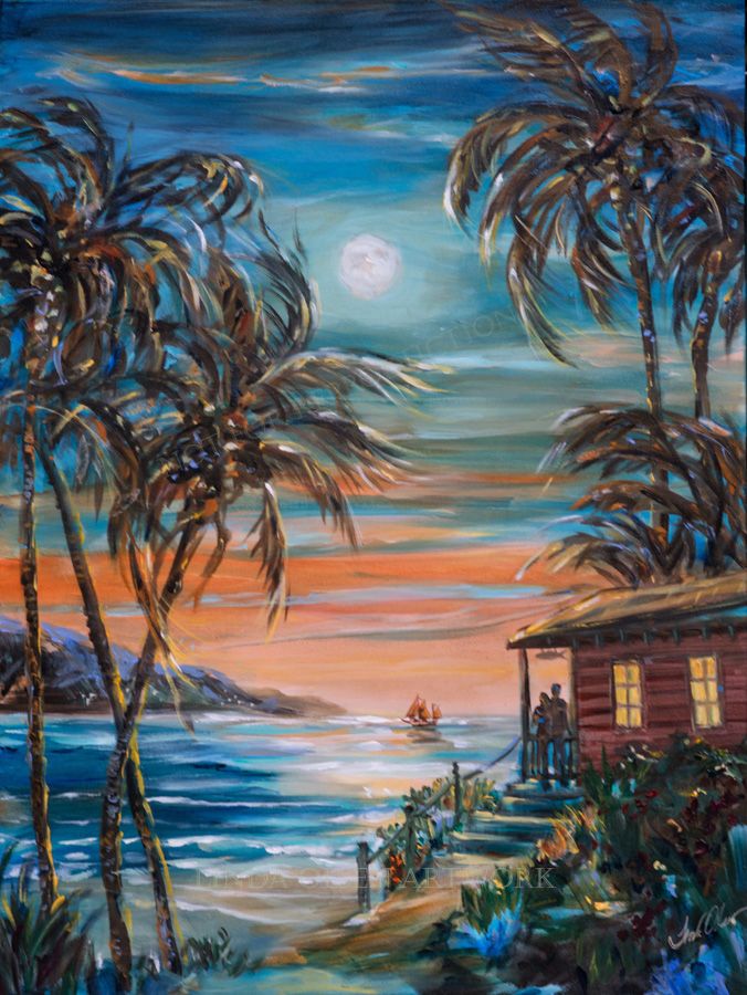 Sunset Moonrise 40x30