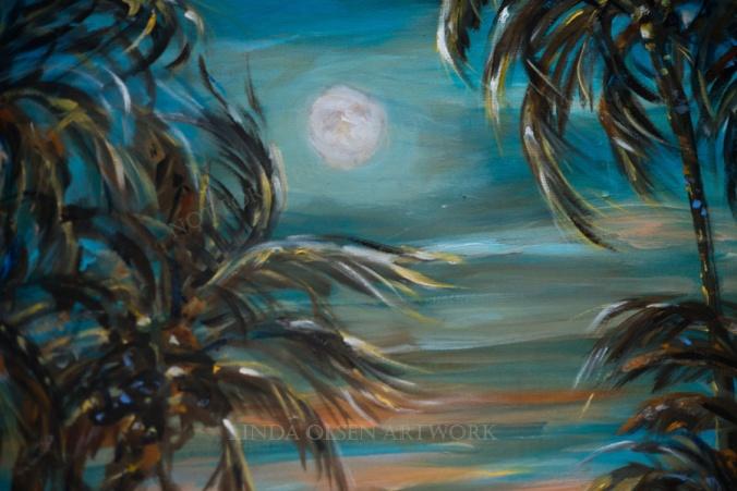 Sunset Moonrise moon