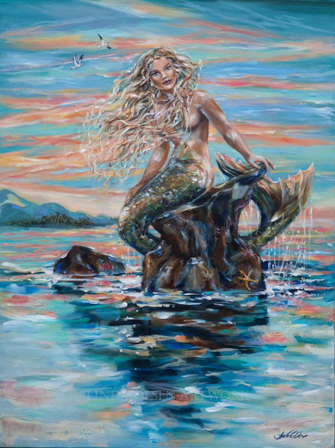 Mermaid at Sunrise 48x36