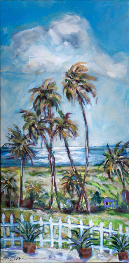 Palms in the Breeze 12x24