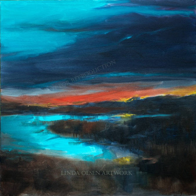 Salt Marsh Sunset 24x24