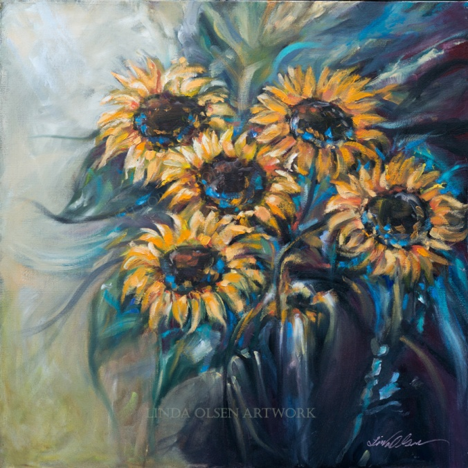 Sunflower Bouquet 24x24