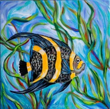 Angel fish 12x12
