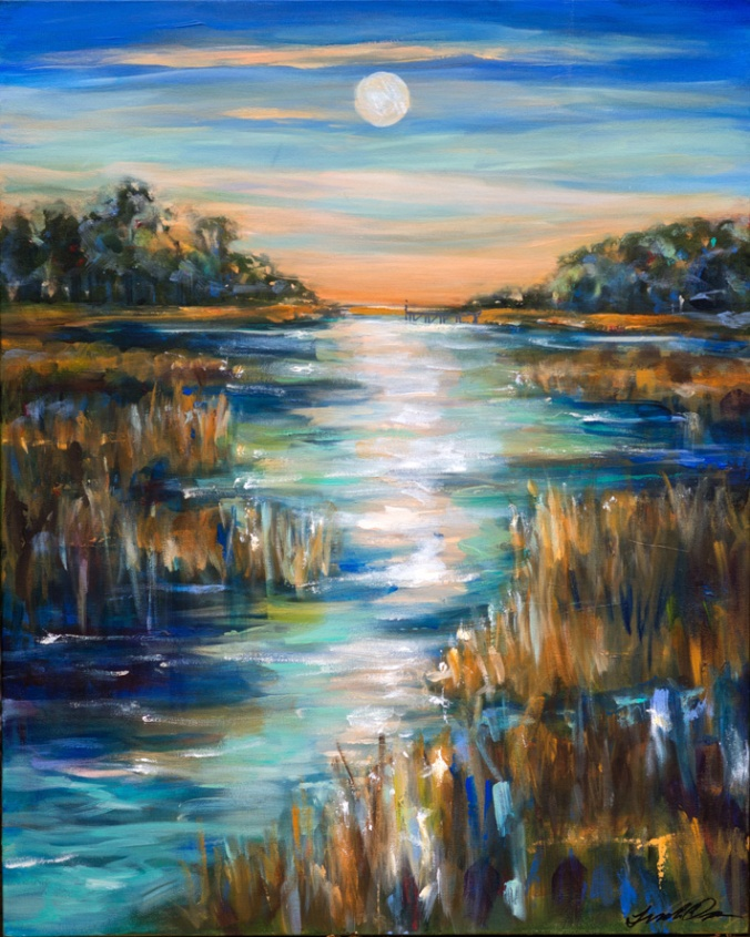 Moonlight Over Waterway 24x30.jpg