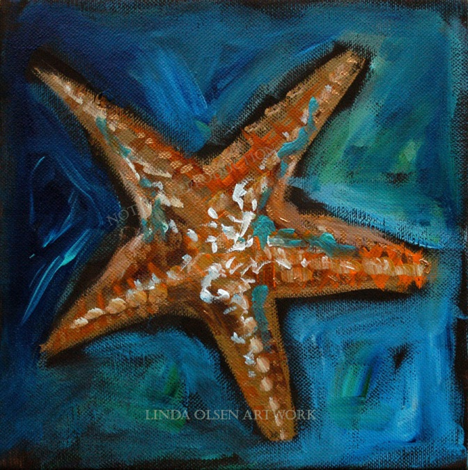 Starfish on blues