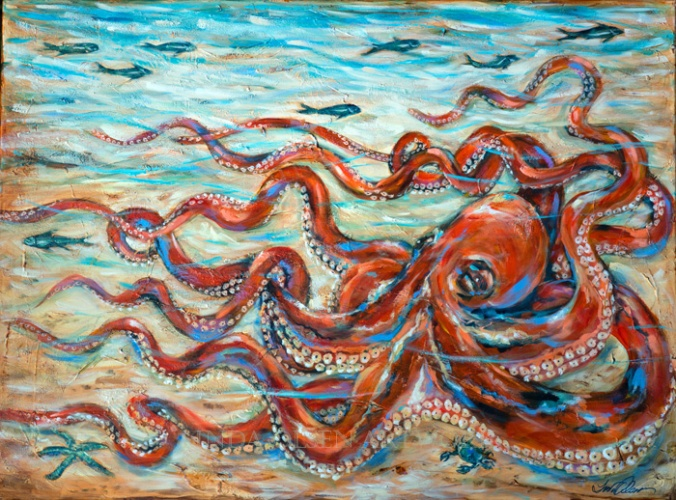 Octopus Crawl 36x48